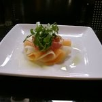 parma ham and melon starter from the christmas menu