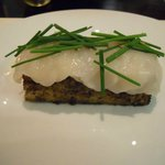 The Scallop Sashimi on Truffle Bread - Outstanding!