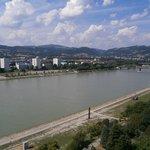 Aussicht auf Donau flußabwärts