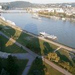 Aussicht auf Donau flußaufwärts
