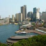Vista do centro financeiro de Sydney