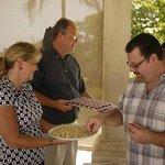 Communion is served each week
