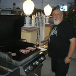 Cooking on the BBQ - excellent Steaks