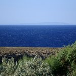 Provando il teleobiettivo, in una giornata di vento: sullo sfondo GAVDOS
