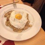 Polenta Taragna con uovo e porcini
