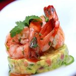Simply Poached Prawns Served with Coriander Citrus & Avocado Salad