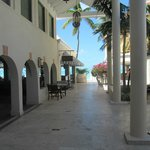 Walking from the Caribbean lobby to the beach