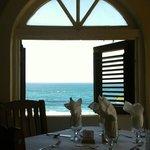 Indoor Dining Overlooking the Beach