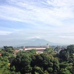 the view of Mount Merapi