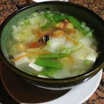 Very good portion for sharing of the vegetable tofu soup