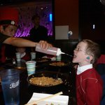 My six year old son gets to chug water - the adults got Sake.