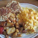 Breakfast Scramble w/Melted Cheddar!
