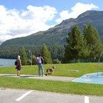 St Moritz lake side