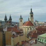 Westward view of Old Town Prague from Hotel Paris room