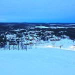 Levi town - view from the top of the ski slope.