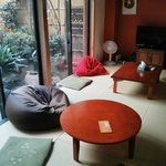 living room + japanese garden