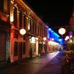 La calle, de noche