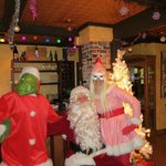 Santa, The Grinch & Cindy Lou Who surprised us