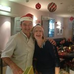 Zoe with Denis - Our head chef and host