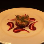 Smoked salmon and beetroot tartar