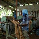 "alte Seilfabrik (Seile aus Kokosnuss-""Haaren"")"