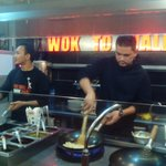 show cooking wok