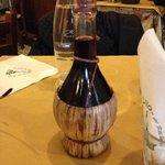 Fiaschetto di vino rosso toscano
