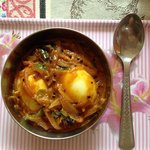 egg curry, breakfast