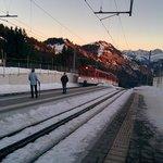 Rigi Kaltbad Station mit Bahn