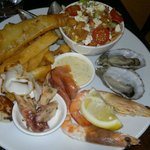 Market fish, octopus, squid, oysters, SA prawns, scallops, fries, fattoush salad