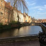 The canal in the old town area of Brugge