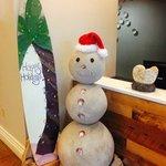Sand Snowman from Lobby