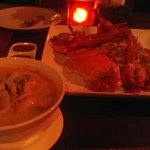 Sea food bbq for two people (1,200THB) + Beef milky tomyum