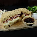 Bacon, Brie & Red Onion marmalade sandwich