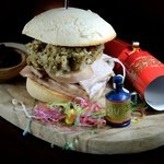 Our special Christmas turkey, Stuffing & Cranberry roll