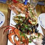 Seafood platter im Cafe fish