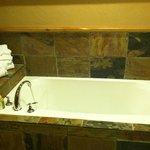 Tub and bathrobes