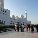 Parte externa da mesquita
