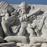 Sand Sculpture at Coquina Beach