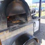 wood stove pizza