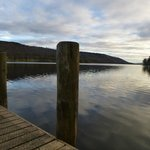View of Coniston from the Waterhead's jetty