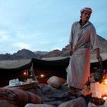 Mahmoud making us tea