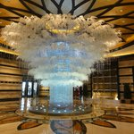 The beautiful entrance lobby with light tree sculpture