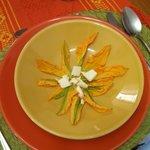 Squash Blossoms for soup