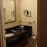 A rather tight bathroom