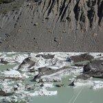 glaciar en retroceso