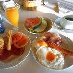 朝食です。ビュッフェ形式。