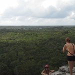 View of jungle from Coba pyramid