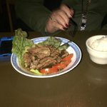 Garlic and Beef, 8.95 reheated