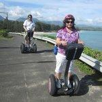 E & J on Segways in Kailua, HI